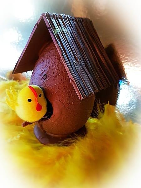 Chocolade vogelhuis